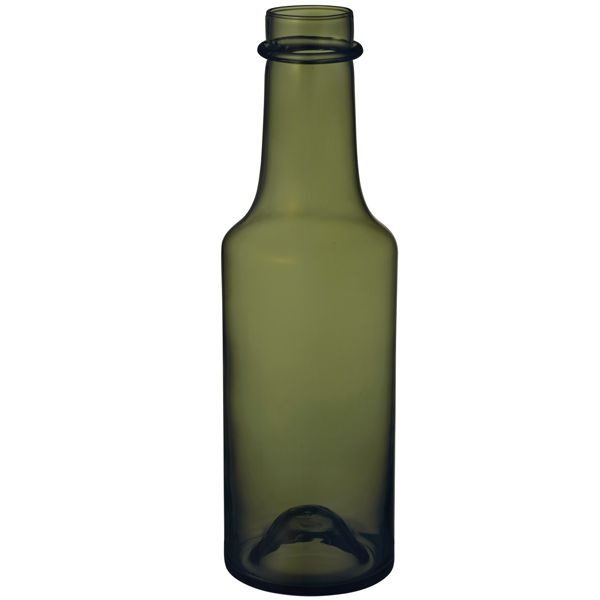 Wirkkala 2015 bottle 95x330 mm, green, by Iittala.