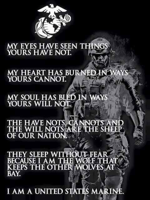 Yes, I am a United States Marine . After graduating boot camp in '05, our son served 7 overseas tours in his first 8 years, in support of Operations Iraqi Freedom and Enduring Freedom.