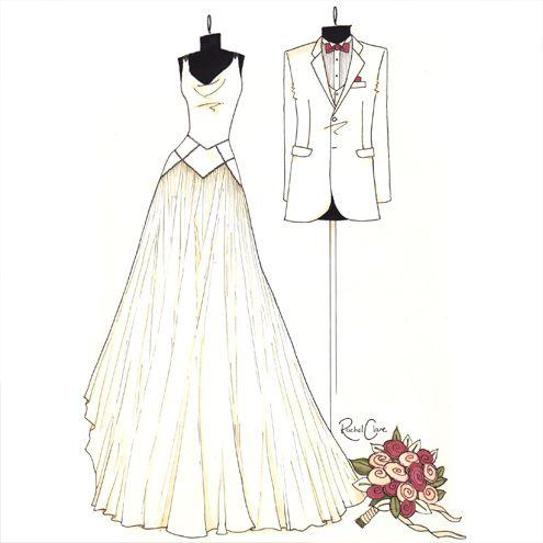 Wedding Illustrations | Bride & Groom - wedding illustration