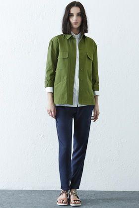 Clothing | Green Heavy Casual Utility Jacket | Warehouse