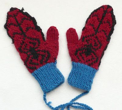 A few weeks ago I searched the internet in vain for a good pattern for a pair of Spiderman mittens for my 6 yr old son. A friend found a g...