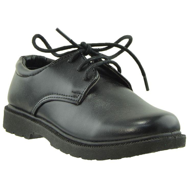 Kids Dress Shoes Lace Up Derbies Closed Toe Shoes Black