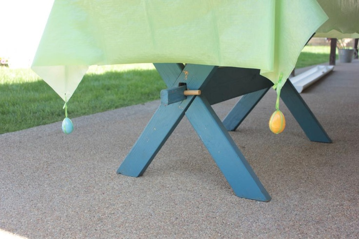 DIY Outdoor Table Cloth Weights