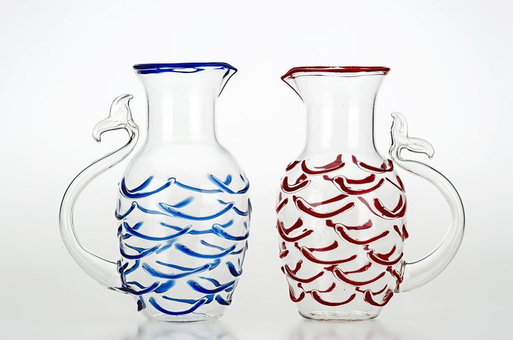 Fish Tale Jug - Hand made in Venice, Italy http://www.casarialto.it/en/product/glasses/fish-tale-jug-c90-109.html
