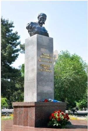 Shevchenko monument in Ashgabat, Turkmenistan.