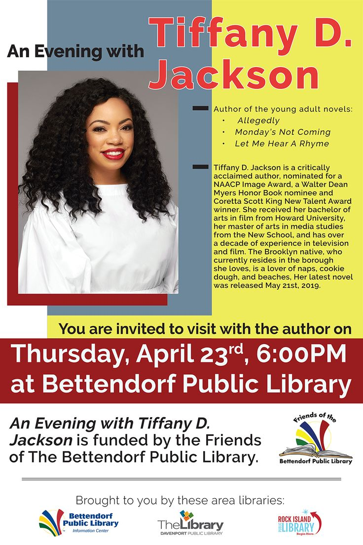 An evening with tiffany d jackson in 2020 with images
