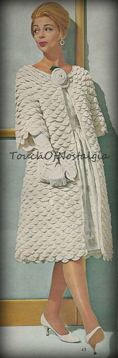 Crochet EVENING  COAT Vintage Crochet Pattern - ELEGANT Evening Dress Coat - Perfect For Elegant Evenings or Special Occasions
