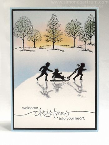 Christmas In July: Reflection Technique - Simone Bartrum, Stampin' Up! Australia