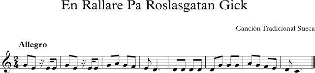 En Rallare Pa Roslasgatan Gick. Canción tradicional Sueca