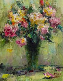 Art Talk - Julie Ford Oliver: Impression of Roses