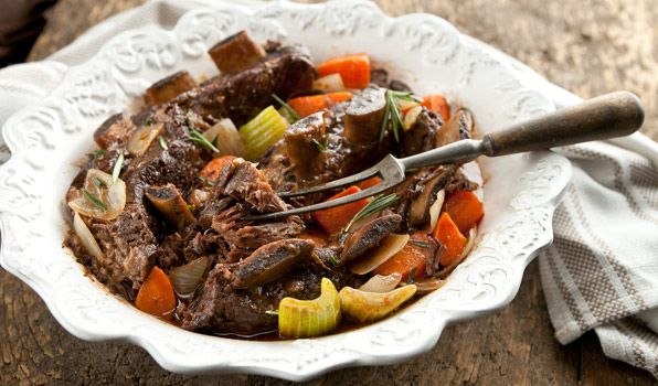 Slow-Cooked Red Wine Short Ribs by Stefano Faita, cbc.ca  #Short_Ribs #Slow_Cooker