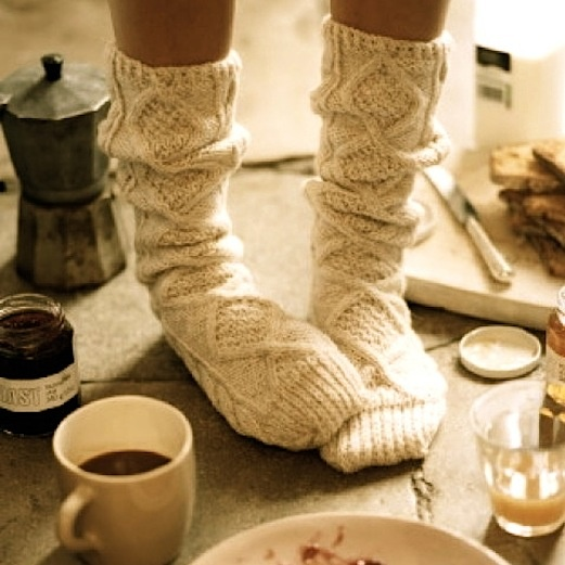 I love these & would definitely wear them! =) Cold Toes and Cozy Clothes! Cozy can be fashionable in my book...
