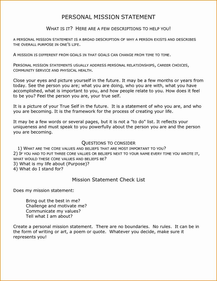 20 Student Mission Statement Examples Dannybarrantes Template In 2021 Personal Mission Statement Mission Statement Examples Vision Statement Examples