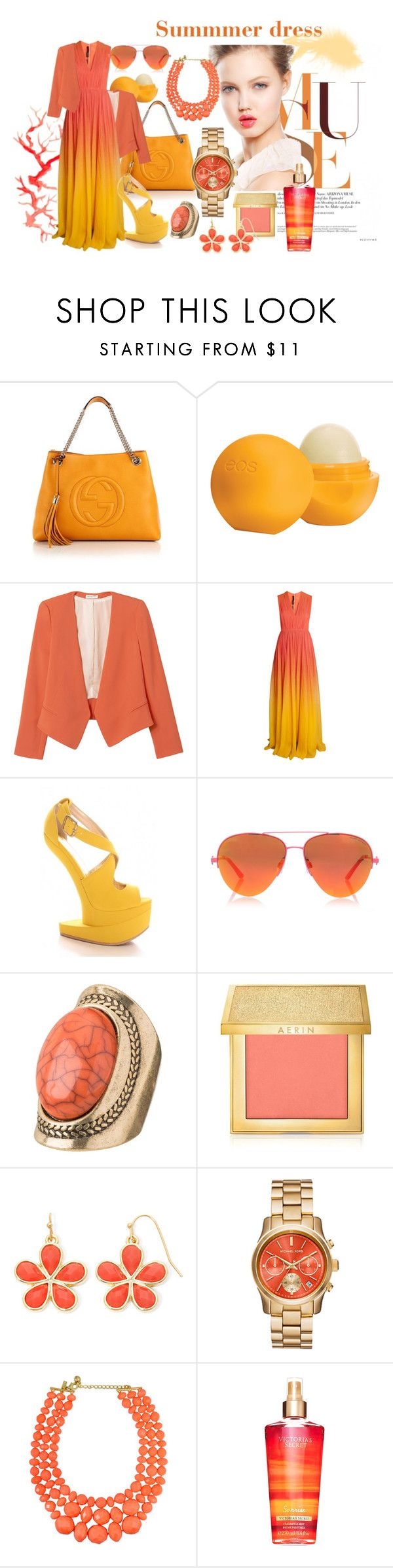 O.C. California by iris234 on Polyvore featuring Elie Saab, Rebecca Taylor, Gucci, Liz Claiborne, maurices, Kurt Geiger, AERIN, Eos and Jill Stuart