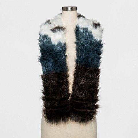 Mossimo Women's Faux Fur Stole