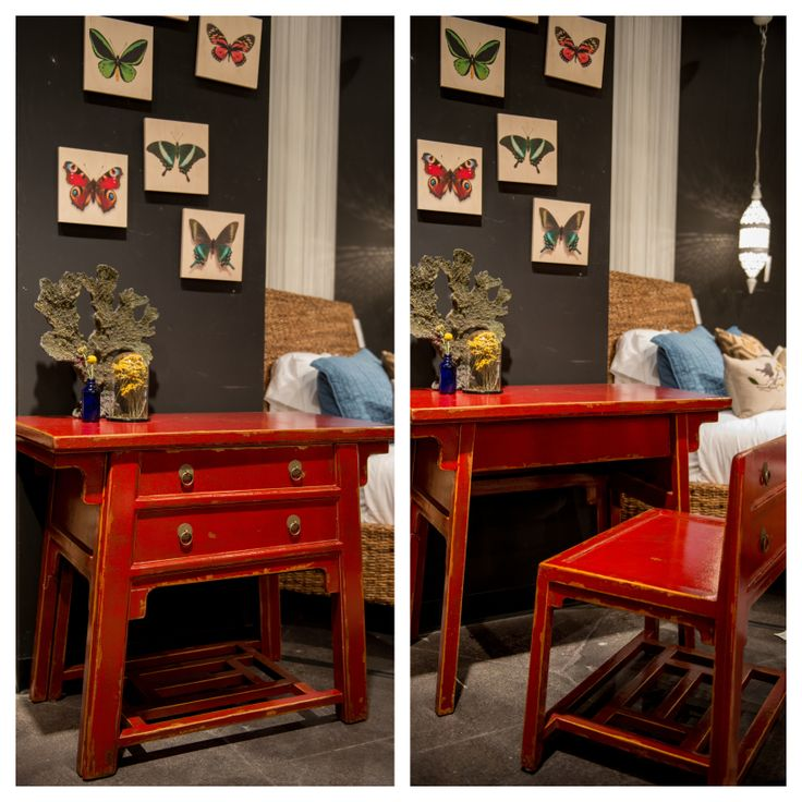 Chinese Desk With Hidden Stool From Our Zhang Collection At Four Hands Home  In Austin,