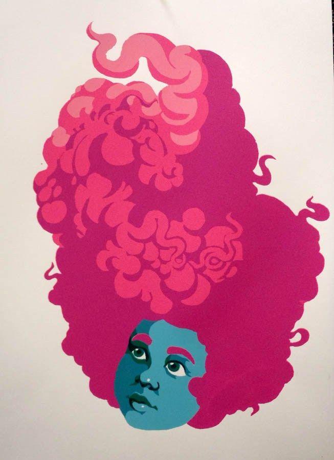 reduction print by ashley P. Silkscreen