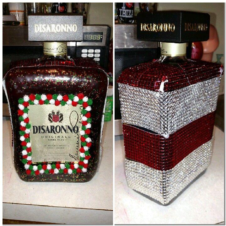 Disaronno christmas decorated liquor bottle                                                                                                                                                                                 More