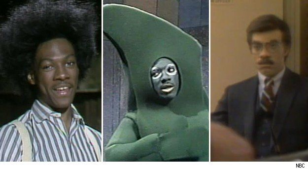 "Eddie Murphy on ""Saturday Night Live,"" as Buckwheat, Gumby, and Mr. White."