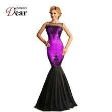 RJ80196 Comeondear Мода Элегантные Партия Dress 5 Цвета С Блестками Настоятельно Рекомендуется Женщины Формальные Платья Новый Русалка Long Dress(China (Mainland))