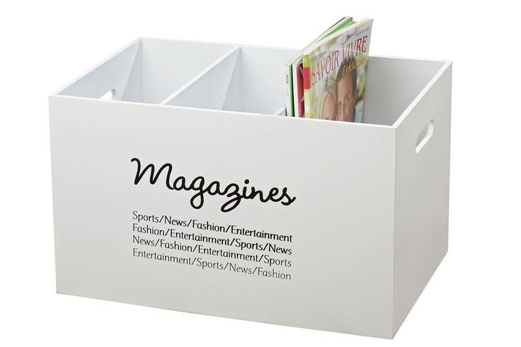 Zeitungsständer Wand Aus Holz ~ Zeitungsständer Magazines aus Holz Zeitschriftenhalter Landhaus weiß