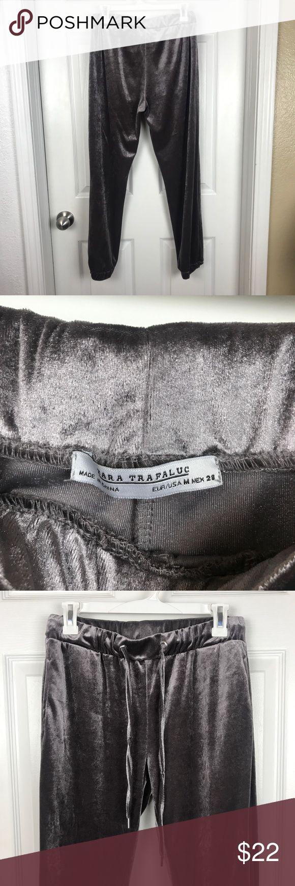 Velvet Zara joggers Velvet Zara joggers. Size M. Only worn once, perfect condition. Insanely soft. Zara Pants Track Pants & Joggers