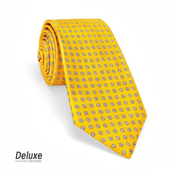 Italian Silk Tie in Yellow