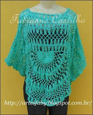 blusa crochê de grampo: Clip, Crochet Blouse, Crochet Blouse Tunic Tops, Grampo Feita, Crochet, Crochet Tops Blouses Tunics, It Looks Great, Woven Blouse, Fabianne Castilho