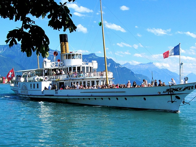 Lake Geneva PaddleSteamer Boat near Vevey. Photo credit: Sonja Holverson