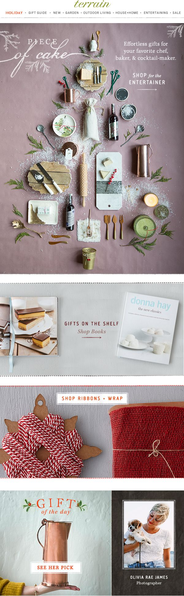 Entertaining #gifts for your favorite #chef, #baker, and cocktail-maker at #shopterrain December 5