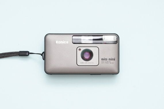 Konica Big Mini BM-201 Compact Film Camera  Fully by ohsocult