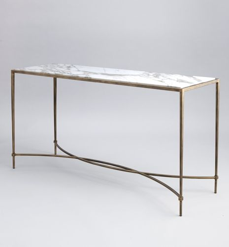 Metal contemporary hanover console table by tom faulkner - Table console rabattable ...