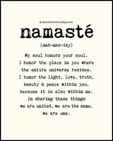 """I love this!!! Holy crap, the word """"Namaste"""" could potentially be a tattoo..."""
