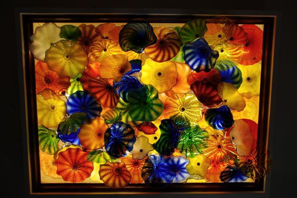 glass ceiling for your home. 9' x 6' over a hundred pieces of glass and lite with LED T-8 tubes.  order yours now.  artist rick strini  strini art glass.