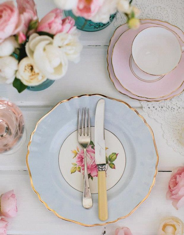 Tea party inspired bridal shower.