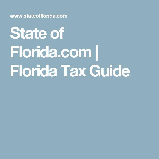 State of Florida.com | Florida Tax Guide