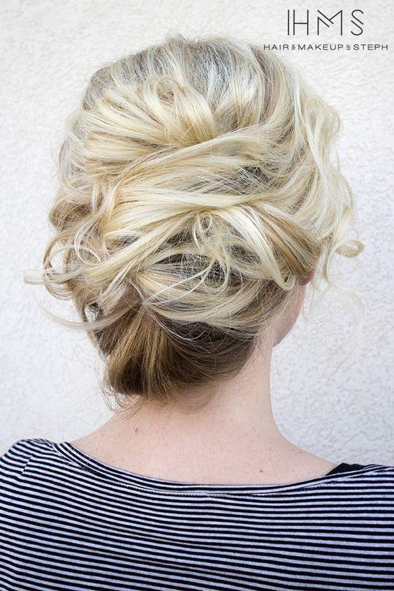 wedding updo hairstyle via Hair and Makeup by Steph 6 - Deer Pearl Flowers / http://www.deerpearlflowers.com/wedding-hairstyle-inspiration/wedding-updo-hairstyle-via-hair-and-makeup-by-steph-6/