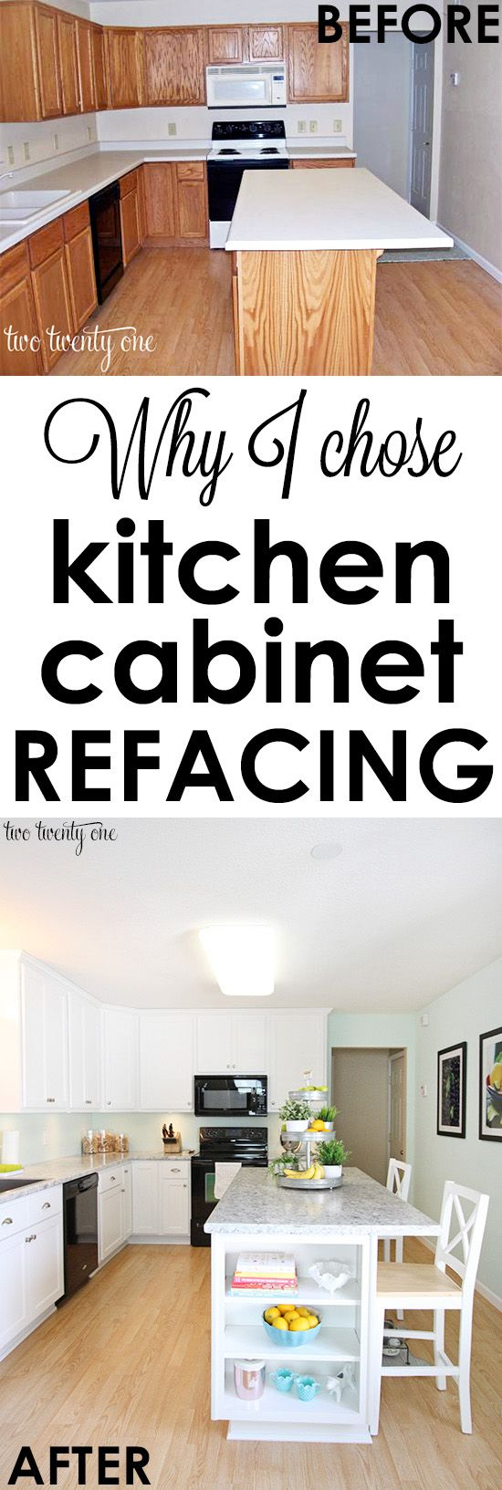 kitchen cabinet makeover reveal - Kitchen Cabinet Refacing Ideas