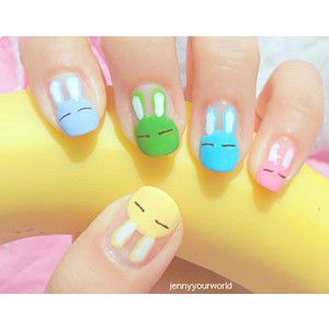 Easter nails. i could never do this but its really cute