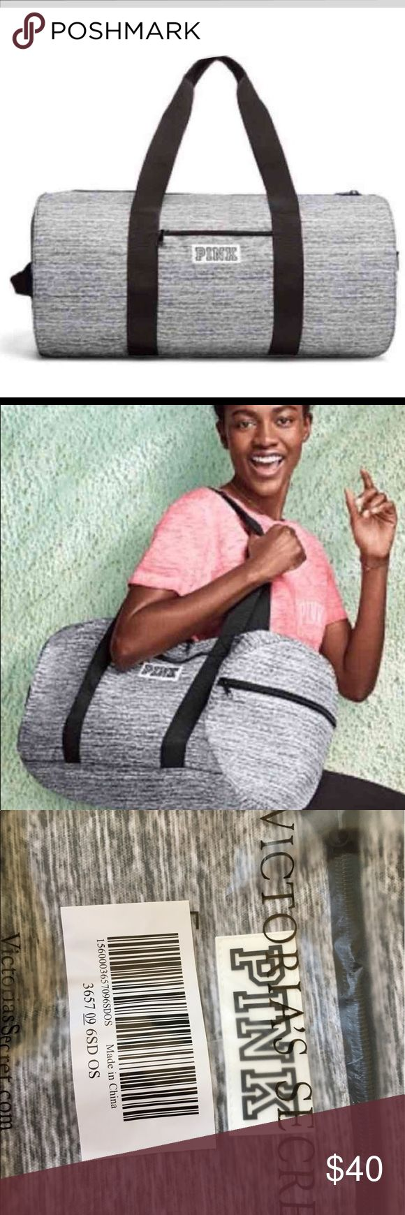 DUFFLE BAG GREY MARL FROM PINK Brand New  Authentic  With NO Tags inside online packaging  Fees Included in price  Look at pictures please  Thank you PINK Victoria's Secret Bags Travel Bags
