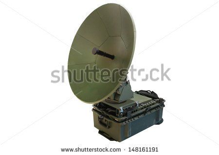 Portable satellite antenna isolated under the white background