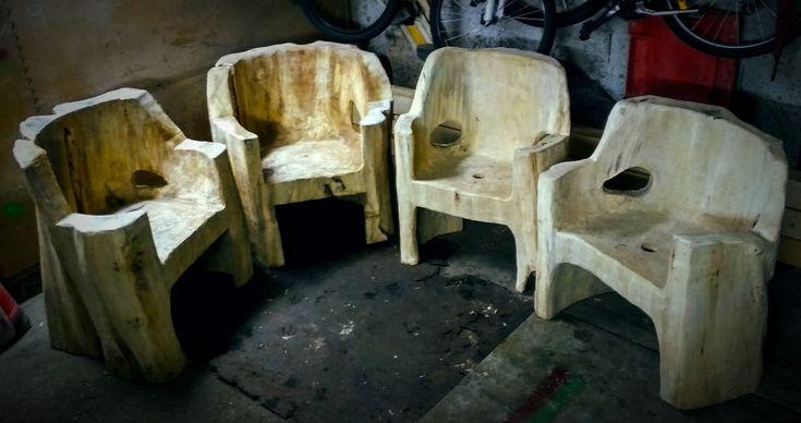 Wood log furniture