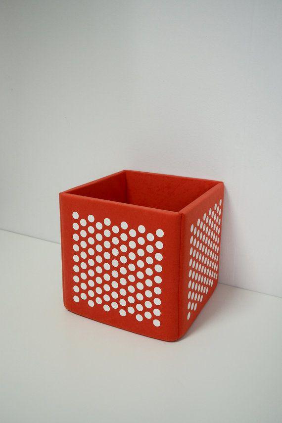Orange toy storage basket soft storage box modern nursery kids