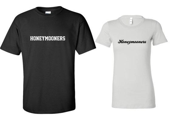HONEYMOONERS Bride / Groom Set  Tshirt Tee Tank by TheNewMrsShoppe, $25.99