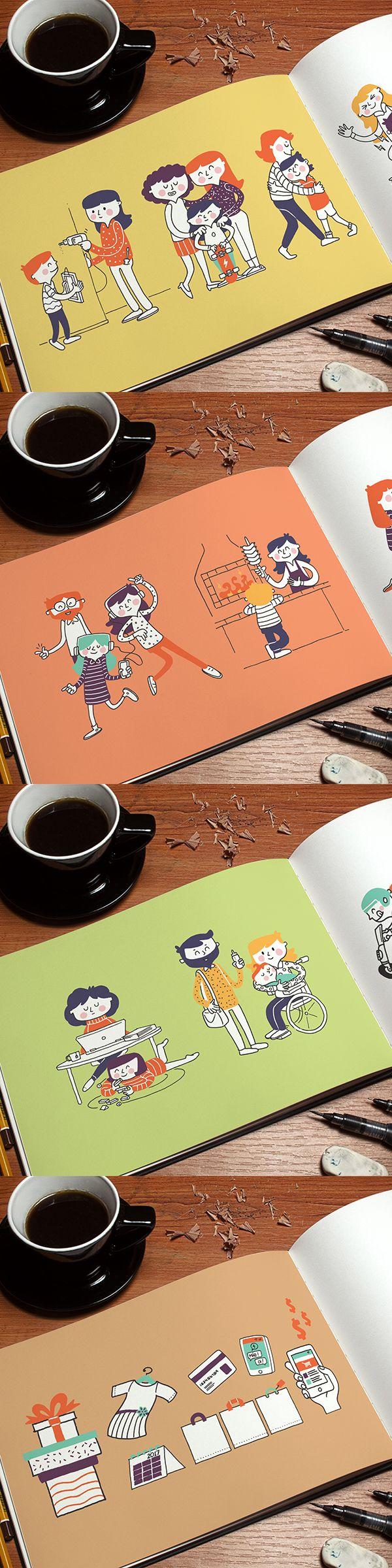 Ilustrações Dia das Mães 2017 - Sindilojas/CDL - 2017©Giovanni Tavares Pereira - www.giopereira.com.br