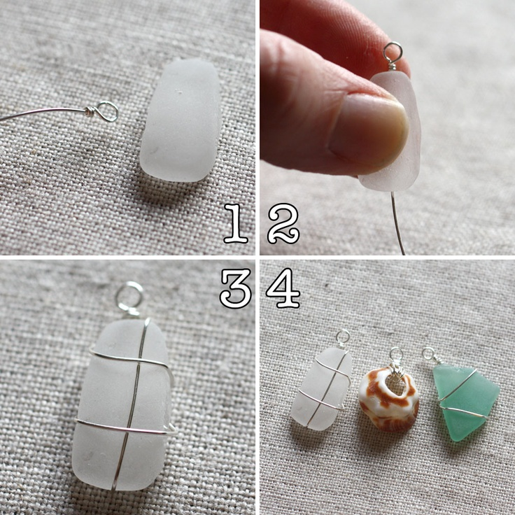 Shell & Seaglass Pendants {{Memorialize Your Beach Trip}}