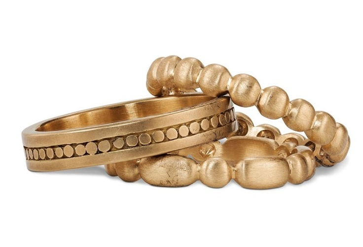 Gold bands by Marian Maurer- my kinda wedding ring/ engagement ring