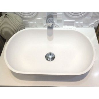 Counter Top Basin Matt Stone - Samba 55cm by Prodigg $209 Matt Acrylic solid surface sink  Dimension: 550*350*115 mm Material: 100% acrylic & modified acrylic Weight: 10.5 kg Very resistant & easy to clean Water resistant & hard-wearing Keeps bacteria away Regenerated surface UV resistance, stain and chemical resistance Environmentally friendly Remarks:  -Pop up waste included -No overflow hole -The tapware, and the drain siphon are not included