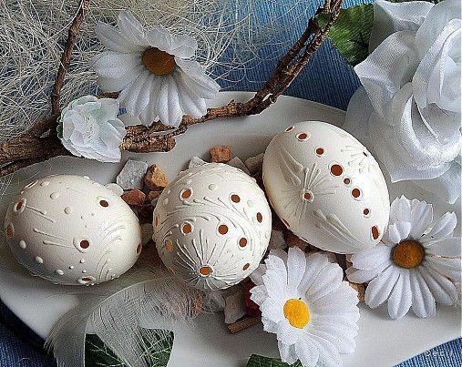 Biele dierkované by Cecil - SAShE.sk - Handmade Veľká Noc