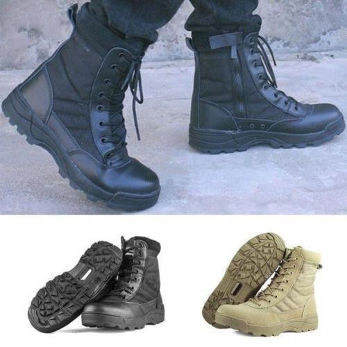 Men Military Tactical Combat Boots Winter Hunting Hiking Camoflage Army Shoes UK #UnbrandedGeneric #CombatBoots